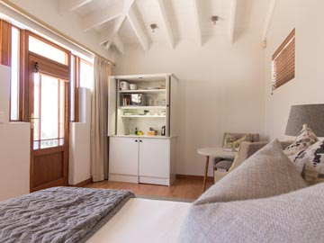 Bed door kitchenette